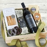 Epicurean Wine, Meat and Cheese Gift Crate