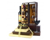 Executive Chocolate Tower & Wine Gift Set